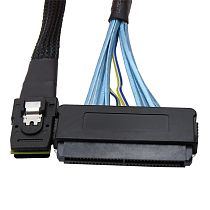 XT-XINTE Internal Mini SAS 4i SFF-8087 36 Pin to SAS 32 Pin SFF-8484 Cable for Controller to Backplane Data Cable Latch Cable