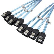 XT-XINTE SAS SATA Cable Mini-SAS SFF-8087 to 4 SATA Cable Mini SAS 4i SFF8087 36P To 4 SATA 7P Cable 12Gbps 50cm Hard Drive Data Cable