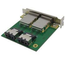 XT-XINTE Dual Mini SAS for Internal SFF-8087 SAS 36P to 2 Port External HD SAS26P SFF-8088 Front Panel PCI SAS Card Adapter