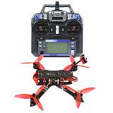 QWinOut three225 FPV Racing Drone 225mm Wheelbase Quadcopter RTF with Radio Transmitter & Receiver F4 Betaflight Pro (V2) OSD/BEC Flight Controller 1200TVL Camera 2204-2300KV Motors BLHeli_32 ESC 5043 3-paddle Propeller