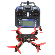 QWinOut three225 FPV Racing Drone 225mm Wheelbase Quadcopter RTF with Radio Transmitter & Receiver F4 Betaflight Pro (V2) OSD/BEC Flight Controller 1200TVL Camera 2204-2300KV Motors BLHeli_32 ESC 5043 3-paddle Propeller