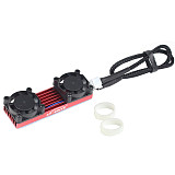 XT-XINTE M.2 NVME NGFF Heatsink SSD Cooler with 20mm Powerful Cooling Fan for Desktop PCIE M.2 2280 22110SSD with Thermal Pad