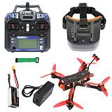 QWinOut three225 FPV Racing Drone 225mm Quadcopter RTF with 5.8G FPV Googles Radio Transmitter F4 Betaflight Pro (V2) OSD/BEC Flight Controller 1200TVL Camera 2204-2300KV Motors BLHeli_32 ESC 5043 Propellers