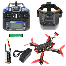 QWinOut three225 FPV Racing Drone 225mm Quadcopter RTF with 5.8G FPV Googles Radio Transmitter F4 Betaflight Pro (V2) OSD/BEC Flight Controller 1200TVL Camera 2204-2300KV Motors BLHeli_32 ESC 5043 Propellers