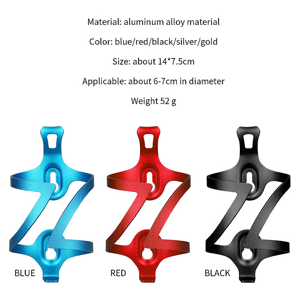 QWINOUT Bicycle Bottle Cage Bike Bottle Holder Bicycle Water Bottle Holder Bike Cages Rack Cycling Accessories for Electric Car Motorcycle Mountain Bike