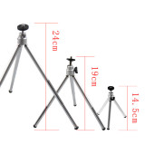 BGNING 3-section Stretch Rod Mini Tripod for Mobile Phone SLR Camera Live Shooting Tripod