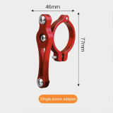 QWINOUT Bicycle Water Bottle Holder Adapter Aluminum Alloy Handlebar Water Cup Rack Bracket Clip Clamp Cycling Accessories for Electric Car Motorcycle Mountain Bike