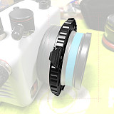 NiteScuba M67 Screw Port Magnetic Adapter Ring Macro Lens Magnetic Quick Release Ring Male Part Female Part Rotating Lens for Diving Camera Wide-angle Lens Macro Lens