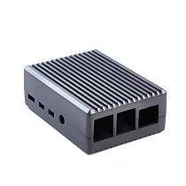 XT-XINTE Aluminum Alloy Metal Heat Sink Cooling Protective Shell Suitable for Raspberry Pi 4B