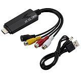 XT-XINTE 1080P HDMI to AV Converter Adapter for HDTV DVD
