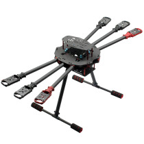 QWinOut Q650 3K Carbon Fiber 6-Axls Aircraft Folding Arm FPV Drone UAV Quadcopter Frame Kit with Landing Gear Skid for DIY Aircraft Helicopter