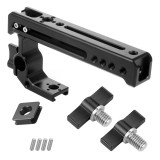 FEICHAO BSB-1 Aluminum Alloy CNC Camera SLR Rabbit Cage Kit Universal Multi-function handle Cold Shoe Extension Accessories 15mm rail hole with  3/8*10mm screw