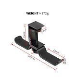 XT-XINTE 360 Degree Rotating Headphone Holder 2 in 1 Headphone Holder Metal Wall Hook Rotating Desk Stand for Headphone