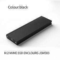 XT-XINTE USB 3.0 SSD Case M.2 NVME SSD to Type C Hard Disk Enclosure M2 2230-2280 External Hard Drive Enclosure for NVME SSD JSM583 Chip
