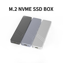 XT-XINTE Aluminum Alloy M.2 M-key SSD Case 1Gbps Type C USB3.1 GEN2 M.2 Hard Drive Enclosure for NVMe M.2 2230-2280 SSD