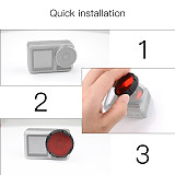 BGNing Diving Red Color Lens Filter for DJI Osmo Action Camera Housing Case Underwater Photography Accessories