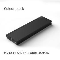 XT-XINTE JSM576 / JSM716Chip USB 3.0 SSD Case M2 SSD to Type-C Hard Drive Enclosure M2 2230-2280 External Hard Drive Enclosure for NGFF SSD