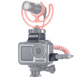 Ulanzi Microphone Rabbit Cage Cold Shoe Accessories Microphone Conversion Interface Mount Adapter for DJI Osmo Action Camera