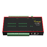 DIEWU EtherCAT Slave IO Module 8 Channels 16 Input 16 Output NPN Input Module 100Mbps with Dual RJ45 Port AB Phase Encoder