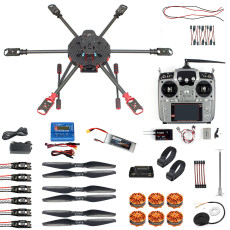 QWinOut Q705 Helicopter DIY Racing Drone Kit T18/AT9S/FS-i6/AT10 Remote Control APM /PIX Flight Control 40A ESC