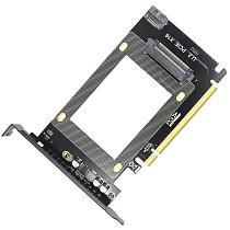 JEYI U.2 SSD to PCIe X16 3.0 Adapter SFF-8639 PCIe Adapter PCIe NVMe SSD Adapter with U.2 Port for 2.5  U.2 NVMe SSD SATA SSD Intel U.2 SSD Samsung PM953