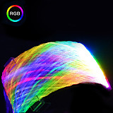 XT-XINTE Simgle/Double 8 Pin(6+2) GPU RGB Synchronized Sleeved Cable PSU Extension Cable 30cm with 5V-ARGB Cable for Video Graphics Card