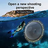 TELESIN Dome Port 30M Waterproof Diving Camera Lens Cover Waterproof Case Housing Floating Handle Trigger For GoPro Hero 9 Camera