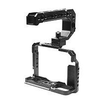 FEICHAO BTL-FT30 Aluminum Alloy XT20/XT30 Rabbit Cage Camera Protection Frame Tripod Expansion Platform Handheld Camera Cold Shoe Holder Fill Light Lamp Holder for Fuji XT20/XT30