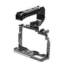 BGNING BTL-FT3 Aluminum Alloy XT2/XT3 Rabbit Cage Camera Protection Frame Tripod Expansion Platform Handheld Camera Accessories Cold Shoe Holder Fill Light Lamp Holder for Fuji XT2/XT3 Camera