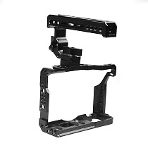 BGNING BTL-FT3 Aluminum Alloy XT2/XT3 Rabbit Cage Expansion Camera Protection Frame Tripod Expansion Platform Handheld Cold Shoe Holder Fill Light Lamp Holder for Fuji XT2/XT3