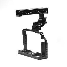 FEICHAO BTL-FT30 Aluminum Alloy XT20/XT30 Rabbit Cage Camera Protection Frame Tripod Expansion Platform Handheld Cold Shoe Holder Fill Light Lamp Holder for Fuji XT20/XT30