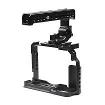 FEICHAO BTL-FT30 Aluminum Alloy XT20/XT30 Rabbit Cage Camera Protection Frame Tripod Expansion Platform Handheld Cold Shoe Holder Fill Light Lamp Holder for Fuji XT20/XT30 Cameras