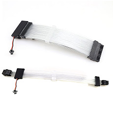 XT-XINTE ATX 24Pin /GPU 8Pin /CPU 8Pin Power Supply RGB Non-Synchronized Sleeved Cable Kits 18AWG PSU Extension Cable with 5V 3Pin ARGB Extension Cable