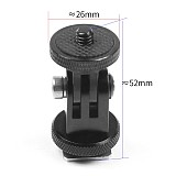 FEICHAO Aluminium 360 Rotation Bike Clamp SLR Cage Extension Arm Mount Bracket Hot Shoe Adapter for Insta360 One R for Gopro 9 8 Cameras