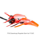 2 Pairs T-Motor T76 Ducted Propeller 3-Blade 2 CW + 2 CCW Props for F1507 NO Shaft Version Motor CineWhoop RC Drone FPV Racing