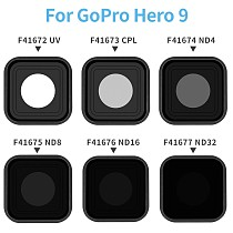 FEICHAO Aluminum Alloy Lens Filter Protector UV CPL ND4 ND8 ND16 ND32 Filters Cover 9H Hardness Frame Case for GOPRO HORO 9 Black