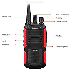 Baofeng New Intercom Two way Radio walkie-talkie BF-999S UV-T2 8W 400-470MHz 4200mAH Battery B3-PLUS USB Charge