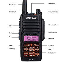 Baofeng New BF-UV9R Waterproof Two-way Radio Walkie-talkie Intercom UV 136-174/400-520MHZ 8W 128 Channel