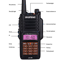 Baofeng New BF-UV9R Waterproof Two-way Radio Walkie-talkie Intercom UV 136-174/400-520MHZ 8W 128 Channel
