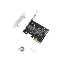 XT-XINTE USB 3.2 PCIE PCI Express Expansion Card PCI-E 4X to USB3.2 Gen2 x2 Type-c Host Controller Card 20Gbps for Desktop