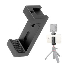 FEICHAO Aluminum Alloy Mobile Phone Clip Fixing Clip Fill Light Hot Shoe Clamp Selfie Stick Holder Clip for Mobile Phone Photography Camera Tripod