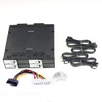 TOOLFREE 2.5 inch 4 bay SATA 6Gbps Optical Drive Hard Drive Enclosure Mobile Rack w/Cooling Fan for 12.5mm HDD PC Laptop