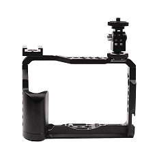 FEICHAO BTL-FT30 Aluminum Alloy Camera Protection Frame Tripod Expansion Platform Handheld Fill Light Lamp Holder 3/8 Cold Shoe Seat and 1/4 Screw Camera Rabbit Cage Expansion Accessories for Fuji XT20/XT30