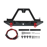 FEICHAO General Stinger Metal Front Bumper with Light Anti-Collision Bumper CA7905 for 1/10 Simulation Climbing Car