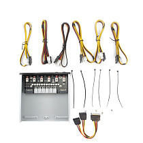 XT-XINTE Intelligent 4/6 Hard Disk Controller Management System Hub HDD SSD Power Switch with Serial/SATA Power Cable