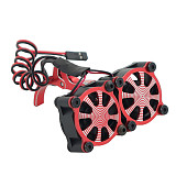 FEICHAO Temperature Control Motor Cooling Dual Fan 36MM Motor Seat Radiator Adjustable Radiator for TRX4 SCX10