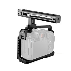BGNing Aluminum SLR Video Rig Top Handle Grip Camera Cage Kit for Canon EOS R5 R6 DSLR Protective Frame w/ 1/4  Inch Screw Holes