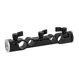 BGNing 15mm 19mm Dual-port Rod Clamp Pipe Clip with Double Ended M6 ARRI Style Rosette Mount for Camera Cage Kit Rig Rail System