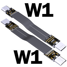ADT-Link Micro USB To Micro USB 90 Degree Adapter USB OTG 2.0 Cable 15cm FPC Ribbon Flat USB Micro 2.0 OTG FPV Cable 3A