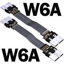 ADT-Link USB 3.0 Micro-B To Micro-B Ribbon Flat EMI Shielding Flat OTG Cable FPC USB 3.0 Micro B 90 Degree Angle Up Downward